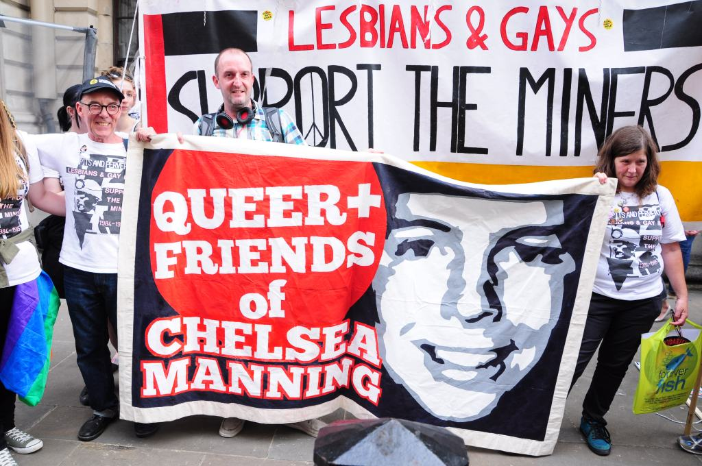 So proud to hold our banner with LGSM!